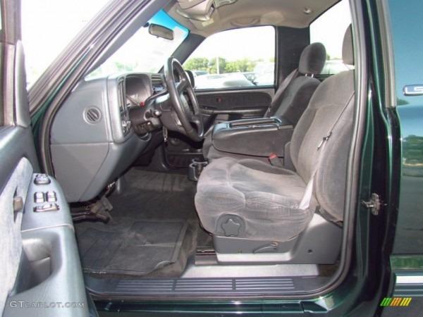 Graphite Gray Interior 2002 Chevrolet Silverado 1500 Ls Regular