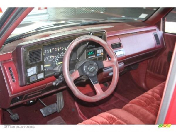 1991 Chevrolet C K C1500 Regular Cab Red Dashboard Photo  55920462