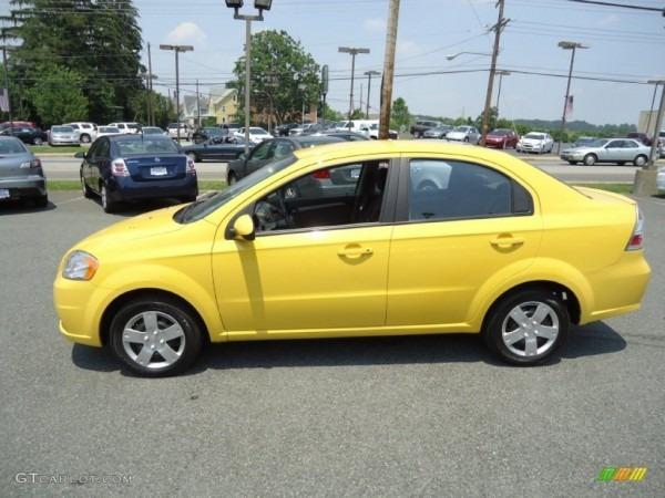 Summer Yellow 2011 Chevrolet Aveo Lt Sedan Exterior Photo