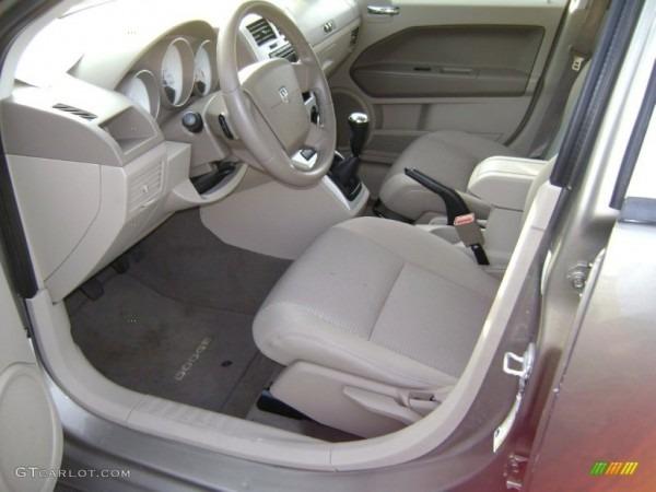 Pastel Pebble Beige Interior 2008 Dodge Caliber Sxt Photo