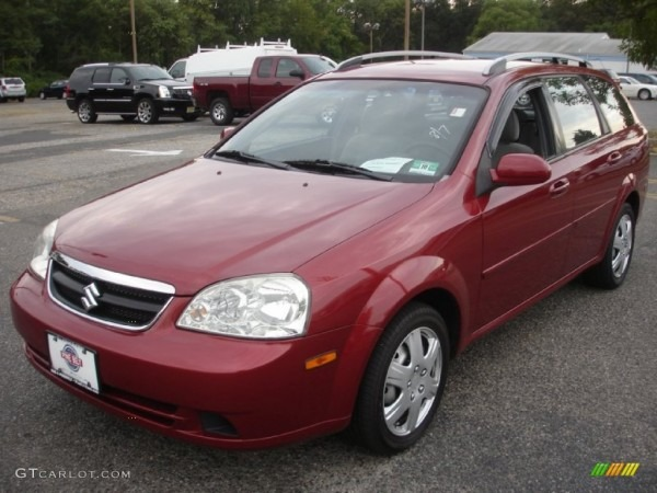 2007 Fusion Red Metallic Suzuki Forenza Wagon  85023944