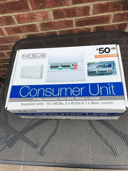 Nexus B&q Power Board Fuse Box   Breaker New Boxed
