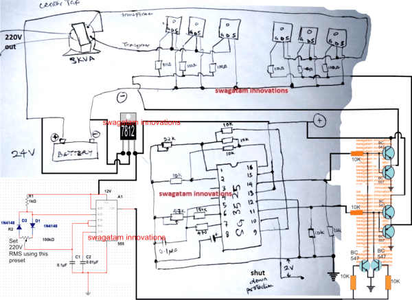 2kva Ups Circuit Diagram