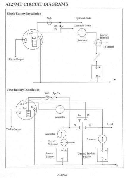 Lucas A127 Alternator Wiring Diagram