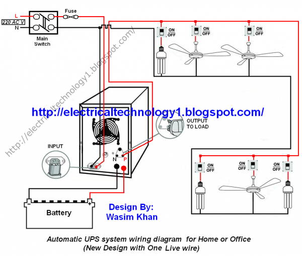 House Wiring Diagram With Inverter