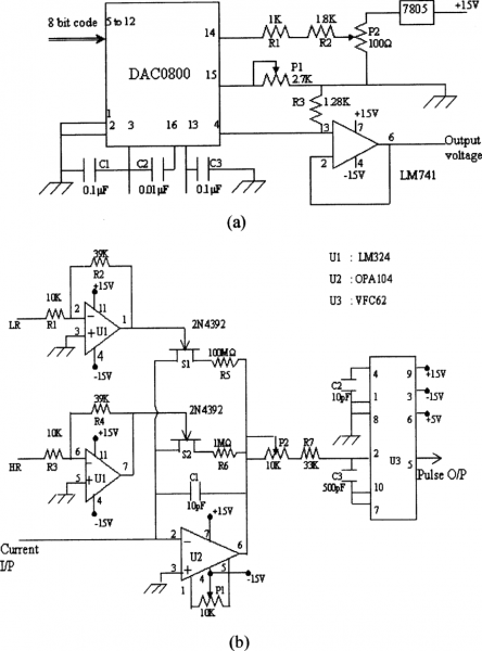 Circuit Diagram Of (a) High Voltage Adjust Circuit, (b) Current To