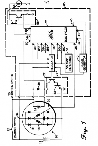 Component Alternator Voltage Regulator Circuit Ducati Roundcase