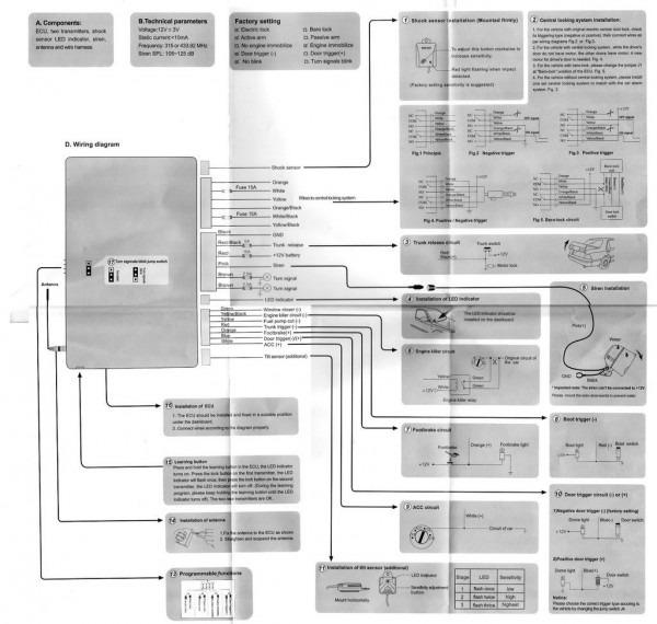 Giordon Car Alarm System Wiring Diagram