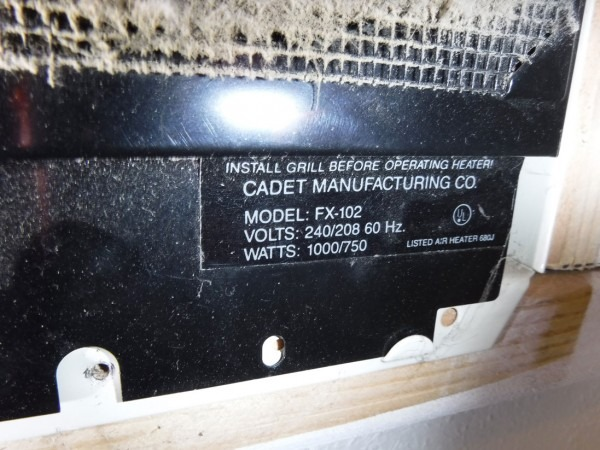 Has Your Cadet Heater Been Recalled