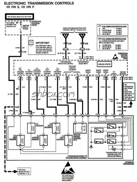 1993 Gmc 4l60e Wiring Schematic