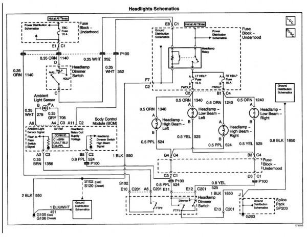 Volvo S80 Headlight Diagram