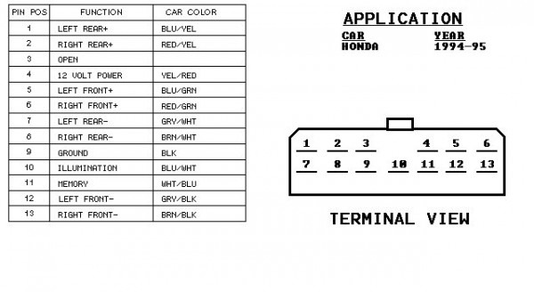 1998 Honda Civic Radio Wiring Diagram