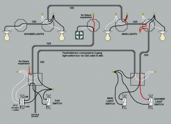 How To Wire Multiple Light Switches Diagram Enamour Lights On One