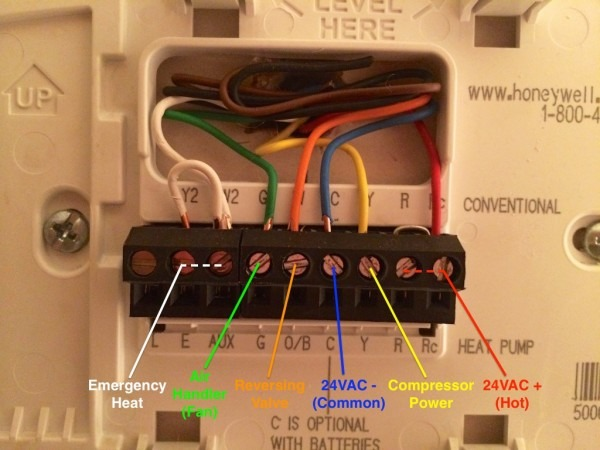 Lovely Honeywell Heat Pump Thermostat Wiring Diagram For Cat In