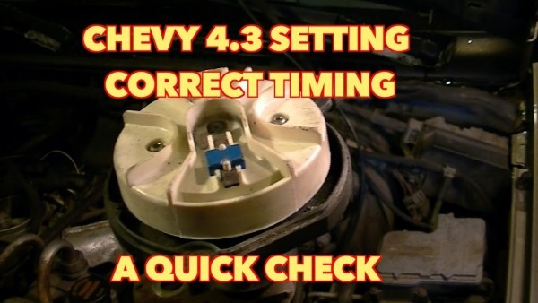 Chevy 4 3 V6 How To Set Distributor Timing