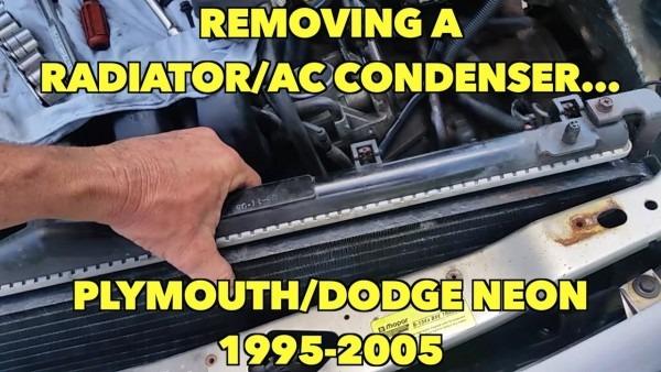 Removing Neon Radiator Ac Condenser Plymouth Dodge Neon 1995