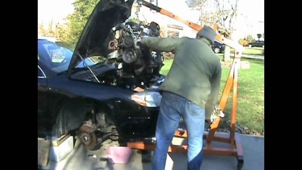 2002 Taurus Engine Transmission Pull 3 Of 10