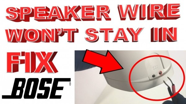How To Fix Bose Speaker Wires Not Staying In Jacks (bose Speaker