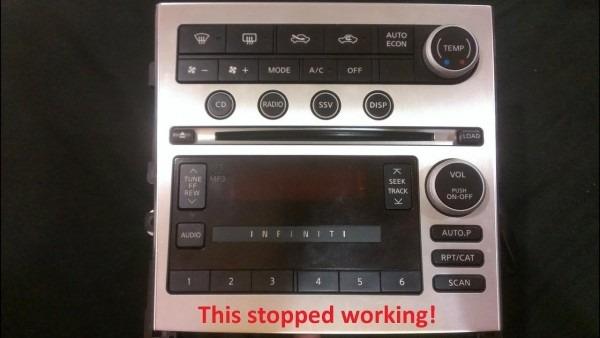 Infiniti G35 After Market Radio Install