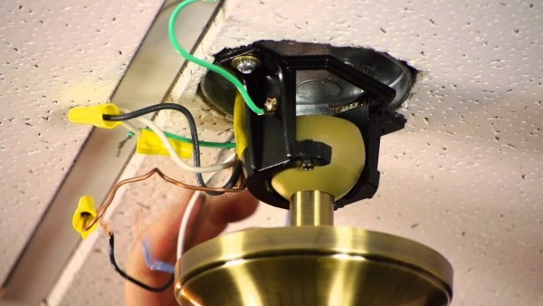 How To Install A Ceiling Fan On A Prewired Ceiling Fan Outlet