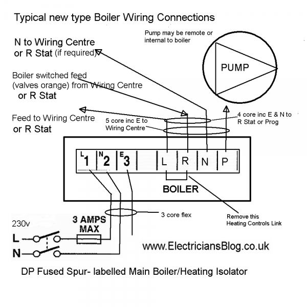 Central Heating Boiler Wiring Diagram