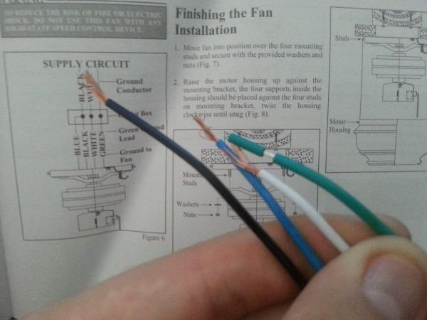 Ceiling Fan Wire Colors Ceiling Fan Speed Wall Switch Wiring