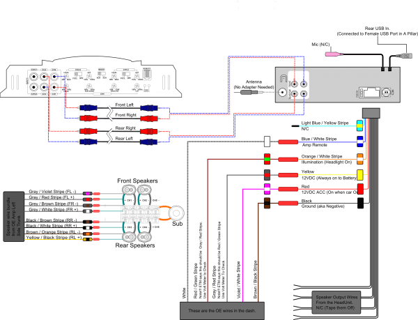 E46 Amp Wiring Diagram