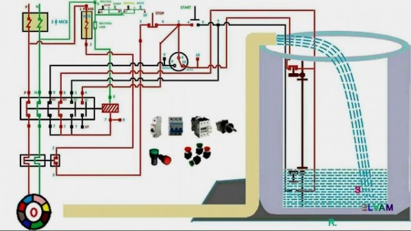 Water Pump Wiring Diagram Single Phase