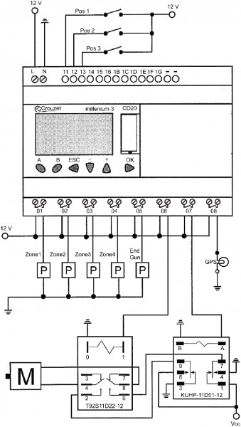 Plc Wiring Diagram (p = Pump; M = Motor  T92s11d22