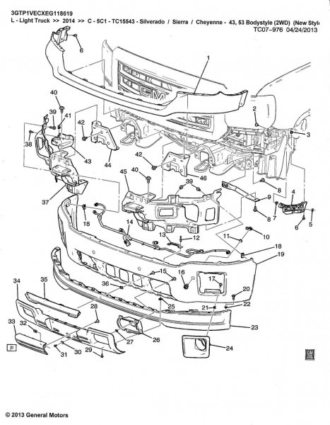 2015 Chevy Truck Parts Diagram