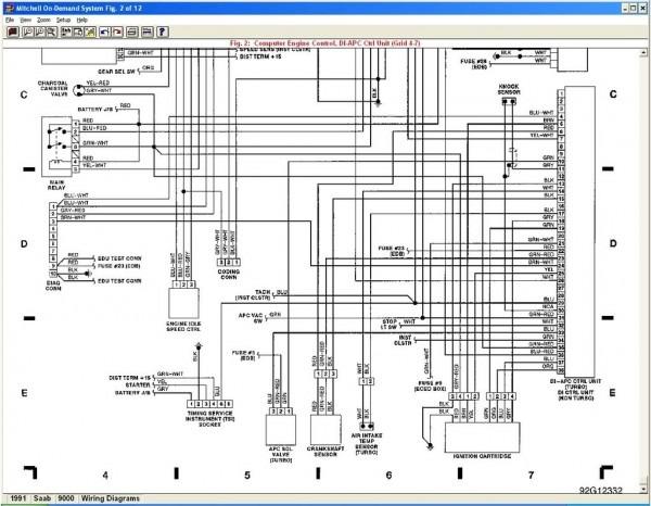 1999 Saab 9 3 Wiring Diagram