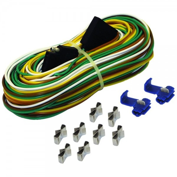 25 Ft  Trailer Wire Harness With Full Ground