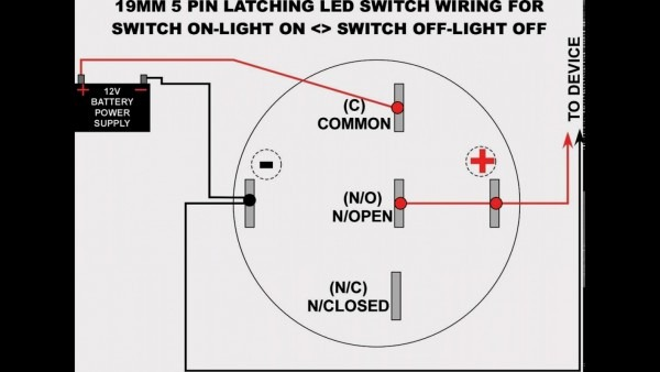 Unique Of 5 Pin Momentary Switch Wiring Diagram 19mm Led Latching