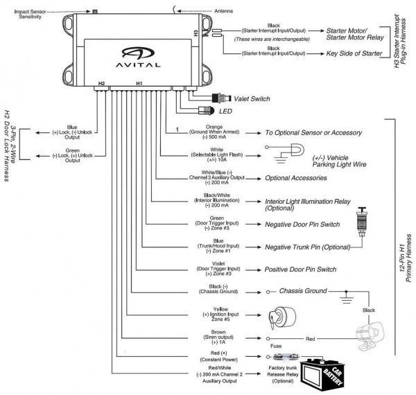 Avital 4103 Wiring Diagram 01 Camry