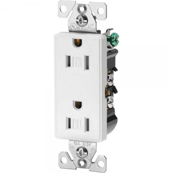 Eaton Aspire 15 Amp Tamper Resistant Duplex Receptacle, White