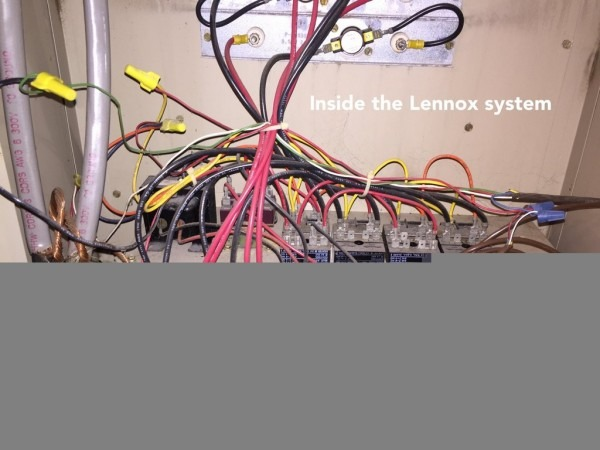 Wire Thermostat Gas Furnace Wiring Diagram Color Lennox With