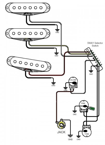 Diagram For Wiring Two Humbuckers Tele