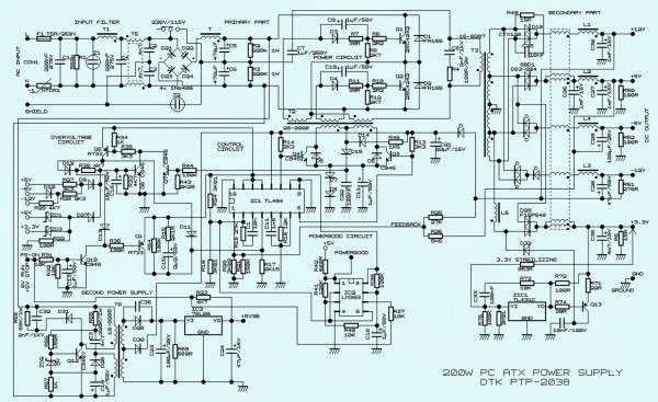 Pc Power Supply Wiring Diagram