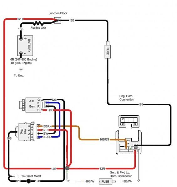 Chevy 350 Alternator Wiring