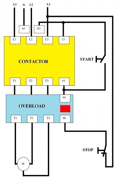 Motor Contactor Wiring Diagram