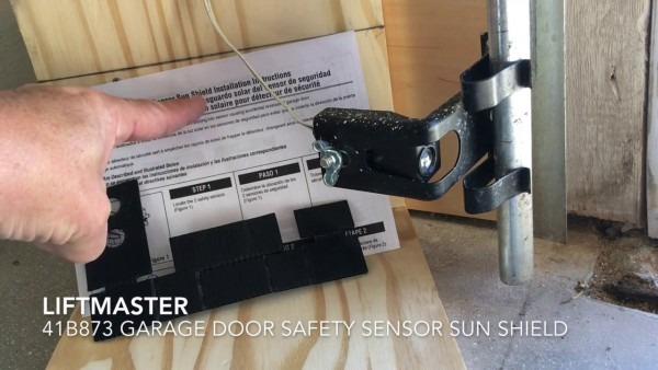 How To Install Garage Door Safety Sensor Sun Shield