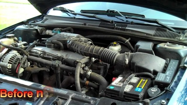 Before & After Short Ram Air Intake 2002 Chevy Cavalier