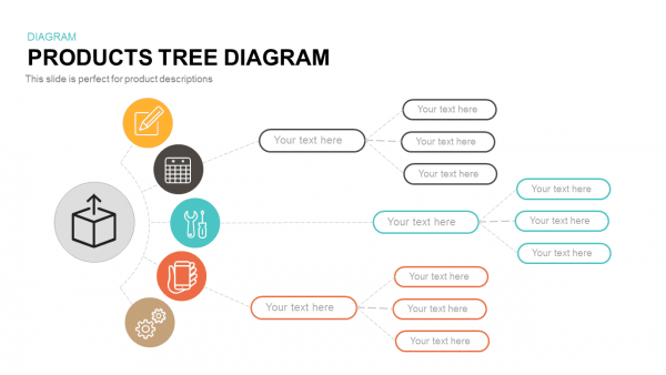 Products Tree Diagram Template For Powerpoint & Keynote