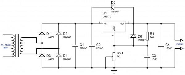Lm317t Circuit Diagram