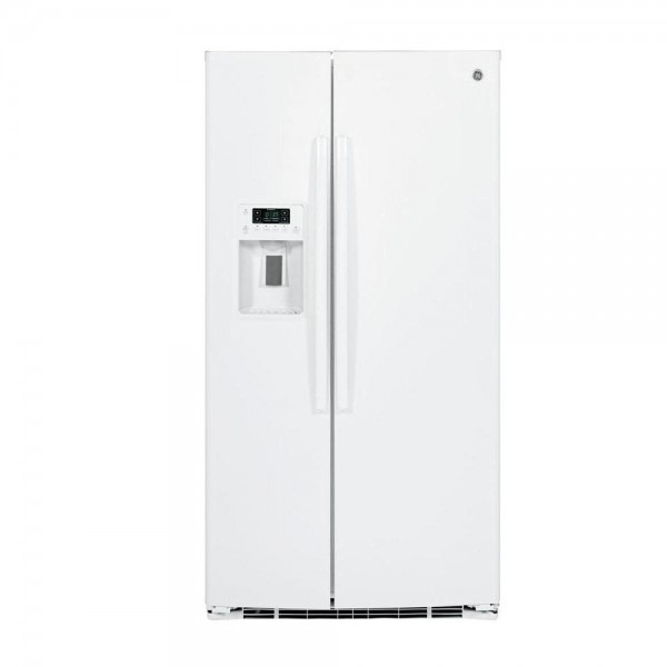 Ge 25 3 Cu  Ft  Side By Side Refrigerator In White, Energy Star