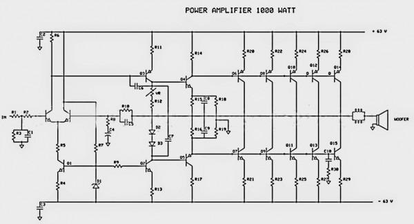 1000w Power Audio Amplifier
