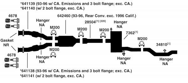 Dodge Intrepid Exhaust Diagram From Best Value Auto Parts