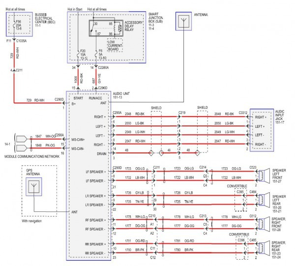 2007 Ford Mustang Stereo Wiring Diagram