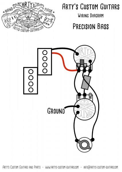 Arty's Custom Guitars Vintage Wiring Prewired Kit Wiring Diagram