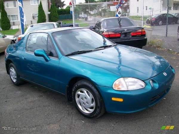 1995 Paradise Blue Green Pearl Honda Del Sol S  18106745 Photo  2